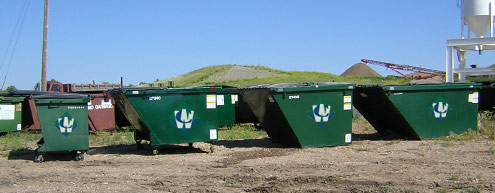 Norfolk Waste Connections commercial dumpsters.